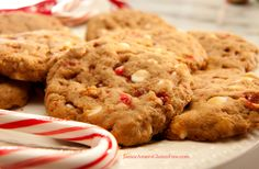 White Chocolate Chip Peppermint Cookies on http://janiceameesglutenfree.com