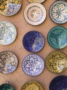Moroccan plates - nice to collect and display on the patio