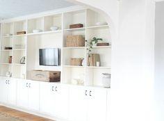 DIY Farmhouse Style Living Room Built Ins