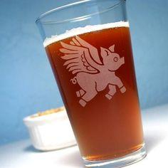 Flying Pig Pint Glass