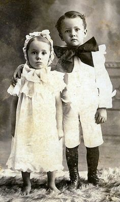 +~+~ Antique Photograph ~+~+  Cutie sourpuss tykes