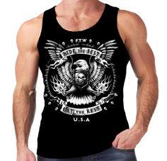 Velocitee Mens Vest Ride The Best Biker Harley Motorcycle American Eagle A10278 #VelociteeSpeedShop