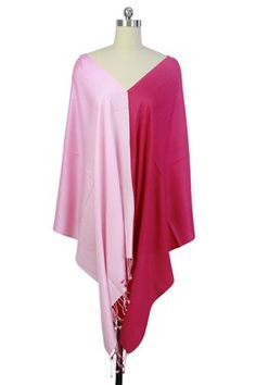 Pink Ombre Luxurious Cashmere & Silk Wrap