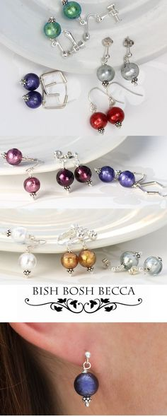 murano glass drop earrings on sterling silver fish hooks, studs and clipon. A great gift idea and a style that will work for day through to night. Many colours are available Jewellery Earrings, Chain Earrings, Clip On Earrings, Statement Earrings, Pearl Earrings, Jewelry, Purple Birthday, Fish Hook, Murano Glass