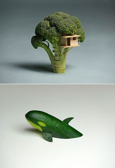 How geeks play with their food.