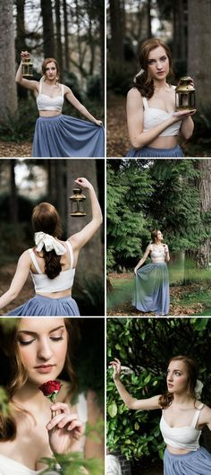Beauty and the Beast Wedding Inspiration - A PRINCESS INSPIRED BLOG | Belle Portraits with a Lantern