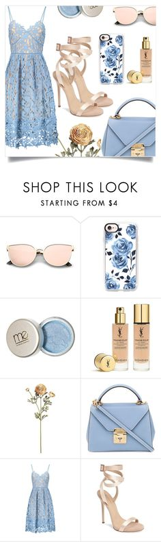 """""""Untitled #72"""" by bluedimondfashion ❤ liked on Polyvore featuring Casetify, Yves Saint Laurent, Mark Cross and Giuseppe Zanotti"""