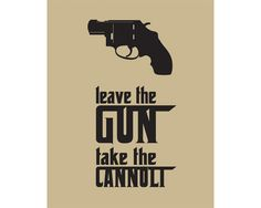 Godfather Inspired Art Print, Cannoli Quote, 8x10 inch
