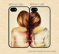 BFF2111 Two Girls Best Friend Cases Double Case by casecase123, $27.99