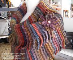 Nouveau modèle - Western Cowl - dans la série des ziguiguis ! - Easy Crochet