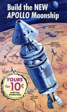 Build the NEW Apollo Moonship.  This looks to be early artwork for the Revell 1/96 plastic model kit.