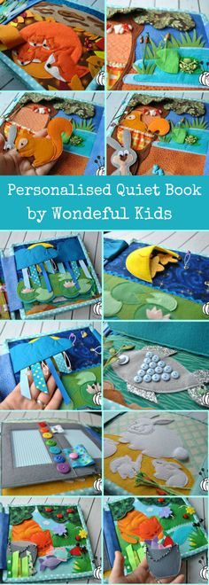 stunning personalised quiet book by wondeful kids #quietbook #affiliate