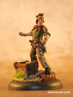 Latigo Pistolero 3 of 3, First Edition. Model by Wyrd Miniatures, painted by Stinkmunk (2012). #Malifaux