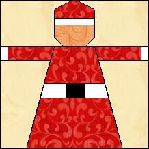 Quilt-Pro - Block of the Day-Mrs. Claus The Block of the Day is available to all quilters, regardless of whether you own our software programs.