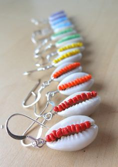 Beaded Cowrie Shell Earring | Drum Brothers Online Store