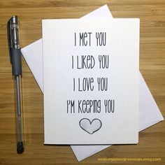 Diy Birthday Gifts Discover Cute Love Card Anniversary Card Love Greeting Cards Greeting Card Just Because Romantic Card I Love You For Husband For Wife Cadeau Couple, Bf Gifts, Noel Gifts, Couple Gifts, Funny Gifts, Romantic Cards, Romantic Ideas, Romantic Notes, Valentine's Day Quotes