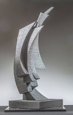 Original Abstract Sculpture by Richard Arfsten Water Sculpture, Steel Sculpture, Abstract Sculpture, Sculpture Art, Abstract Art, Contemporary Wall Art, Contemporary Artists, Abstract Portrait Painting, Portrait Paintings