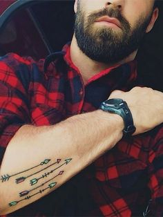 Color/birthstones 150 Stunning Arrow Tattoo Designs and Meanings