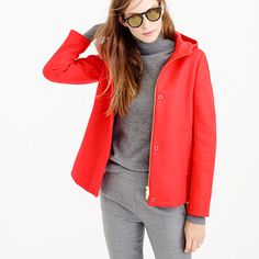 J.Crew melton hooded bib jacket