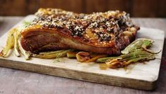 Roast Pork Belly - This juicy roast pork belly recipe has crisp, crunchy crackling infused with rosemary and fennel.