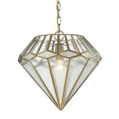 European Diamond Cut Clear Glass Pendant Light. $398 at Shades of Light