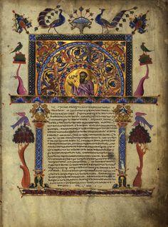 The Curve in the Line  T'oros Roslin (Armenian, active 1256-1268)  T'oros Roslin Gospels, 1262