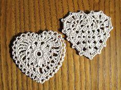 crocheted hearts (garland?)