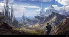 """""""Mountain City"""" by Byzwa Dher.  #sciencefiction #scifi"""