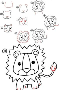 apprendre-dessiner-enfants-lion-criniere-idees