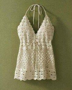 Crochet un bustier pour l'été - La Grenouille Tricote