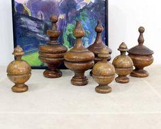 Vintage Wood Finials / Turned Wood, decor
