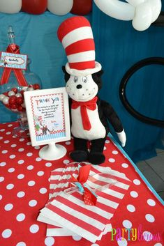 {Cat in the Hat Birthday} | CatchMyParty.com