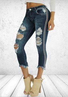 Parisian Celeb Denim Split Front High Waist Acid Wash Ripped NEW Jeans 6-14 UK