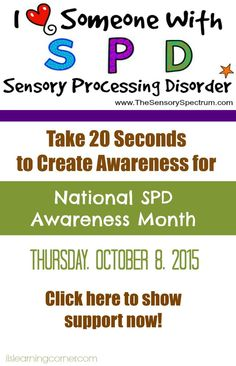 Support us for National Sensory Processing Disorder (SPD) Awareness Month | ilslearningcorner.com #spd #SensoryAwareness #Sensory