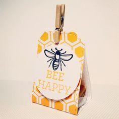 Candy package dies + bee happy stamp set #amusestudio