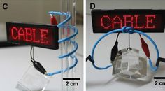 First flexible cable-type battery, made by LG.