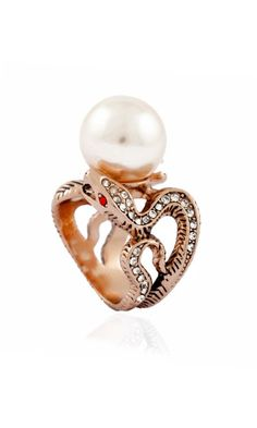 Shop Moonisa - ANCIENT SNAKES PEARL RING | HaulerDeals