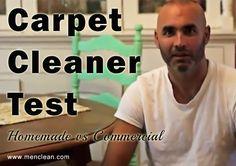 Carpet Cleaner Test - Homemade Carpet Cleaner VS Commercial Carpet Cleaner #menclean
