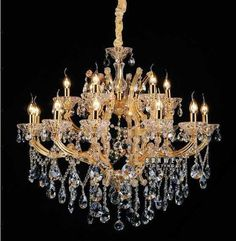 Aliexpress.com : Buy 18 lights gold candle chandelier light chandelier with crystal drops C9100 90cm W x 90cm H from Reliable light weight mountain bike suppliers on HK SUNWE LIGHTING CO., LTD.