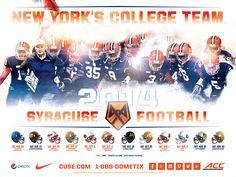 The 2014 Syracuse Football poster | New York's College Team | #orangenation