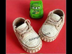 Sapatinho de Croché para meninos 10 CM (Parte 1) - YouTube Crochet Baby Boots, Crochet Baby Clothes, Crochet Shoes, Baby Boy Shoes, Baby Booties, Baby Shoes Pattern, Crochet Videos, Baby Knitting, Crochet Baby Shoes