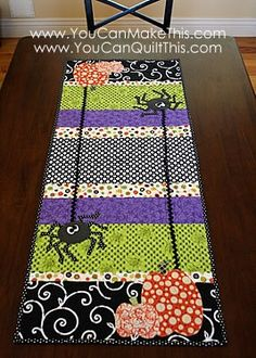 Fun Halloween table runner. I made these for last Halloween, they are darling and pretty easy