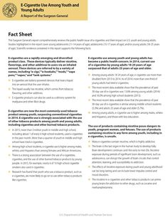 """""""Fact Sheet: E-Cigarette Use Among Youth and Young Adults"""" (Source: U. Department of Health and Human Services) Middle Schoolers, Human Services, Young Adults, Adolescence, Public Health, Youth, Favorite Recipes, Facts, Science"""