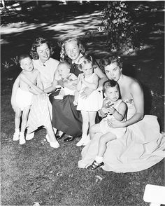 Donna Reed, Esther Williams, and June Allyson with their children