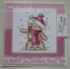 Kat's Cards: A pink Christmas