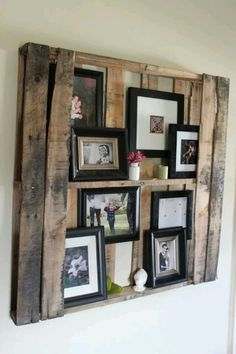 Pallet picture hanging