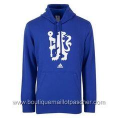 Hoodies adidas Chelsea 2016 bleu