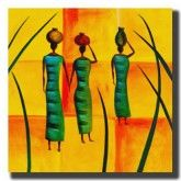 Africa People, African Women, Abstract Art, Canvas Art, Orange, Outdoor Decor, Painting, Painting Art, Painted Canvas