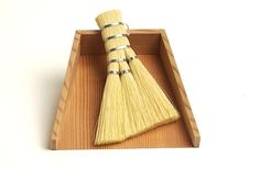 Check out the Chiritori (Dustpan & Broom) in Brooms & Dustpans, Domestic Science from Analogue Life for Straw Broom, Brooms And Brushes, Broom And Dustpan, Japan Design, Tidy Up, Art Furniture, Housekeeping, Creations, Whisk Broom