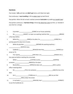 Past and Future Mixed Tenses Review - Upper Intermediate